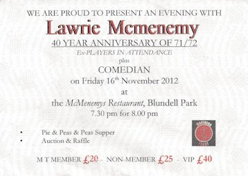 An Evening with Lawrie Mcmenemy