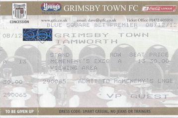 Grimsby Town v Tamworth Ticket