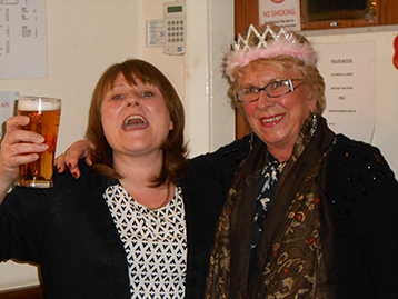 Linda can hardly contain her excitement and sings aloud to all whilst Dame Edna offers support.