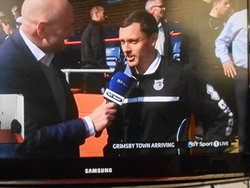 Hursty was in TV link up with his sponsors the Histon Mariners. The Chairman's insight is always appreciated by Paul.