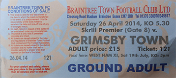 Braintree v GTFC Ticket