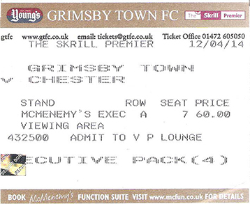 GFTC v Chester City Ticket