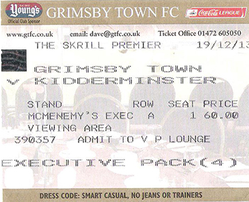 GTFC v Kidderminster Ticket