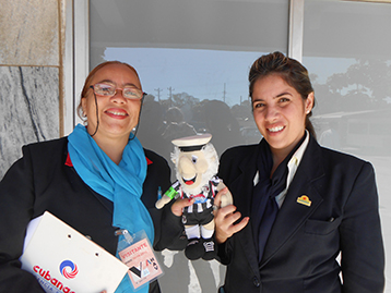 Airport staff Helen and Sulien at Habana were pre-warned of his arrival and were excited about looking after his welfare.