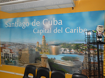 Further afield in Santiago de Cuba, the same relentless drive to promote the cause was obvious
