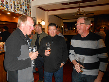 Jim, McMenemy Mike and Ray the Fish were on hand to add vast experience to the Histon Mariners Campaign.