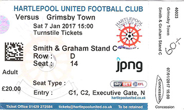 Hartlepool v GTFC Ticket