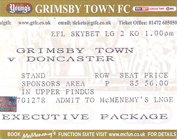 GTFC v Doncaster Rovers Ticket