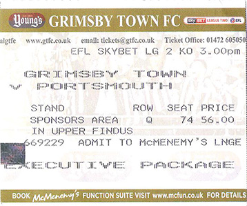 GTFC v Portsmouth Ticket