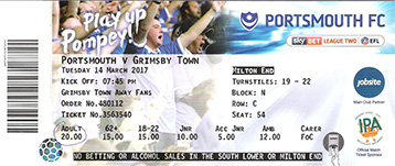 Portsmouth v GTFC Ticket