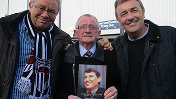 Town legend Dave Boy Boylan was on hand to welcome them to Blundell with due reverence to the legendary Graham Taylor.