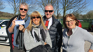 Outlaw Steve with Barnsley Exiles Kenny & Jo with sister Angela from Wigan.