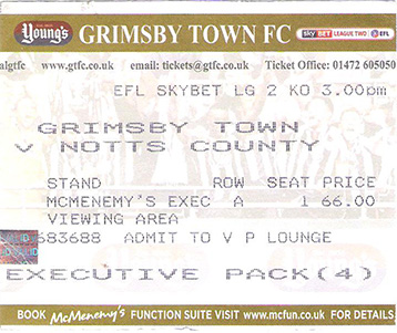 GTFC v Notts County Ticket