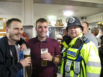 Derby Mariners Craig and Tim are questioned by the local constabulary re an incident involving a bearded Escort Agency worker.
