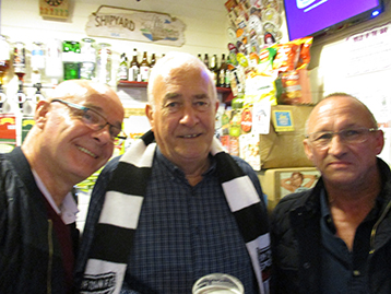 The President and Mr. Dean looked delighted to be joined by Wainfleet Mariners Chairman at the Railway Sleeper.