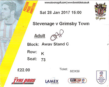 Stevenage v GTFC Ticket