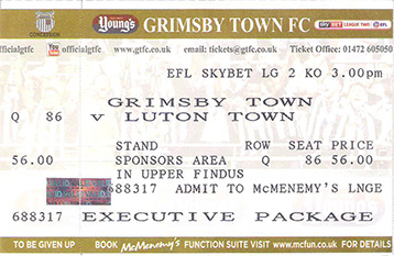 GTFC v Luton Town Ticket